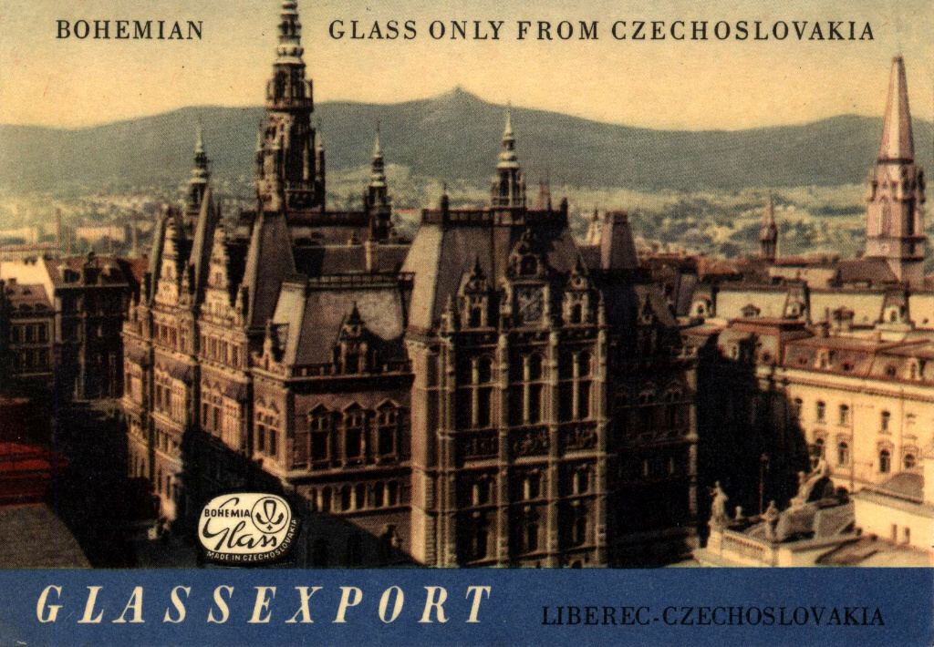 """Glassexport Invitation 1965 (front)"""
